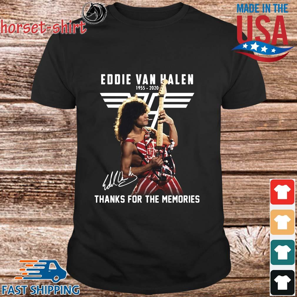 Eddie Van Halen 1955-2020 thanks for the memories signature shirt