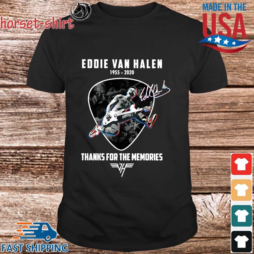 Eddie Van Halen 1955-2020 thanks for the memories signature shirt