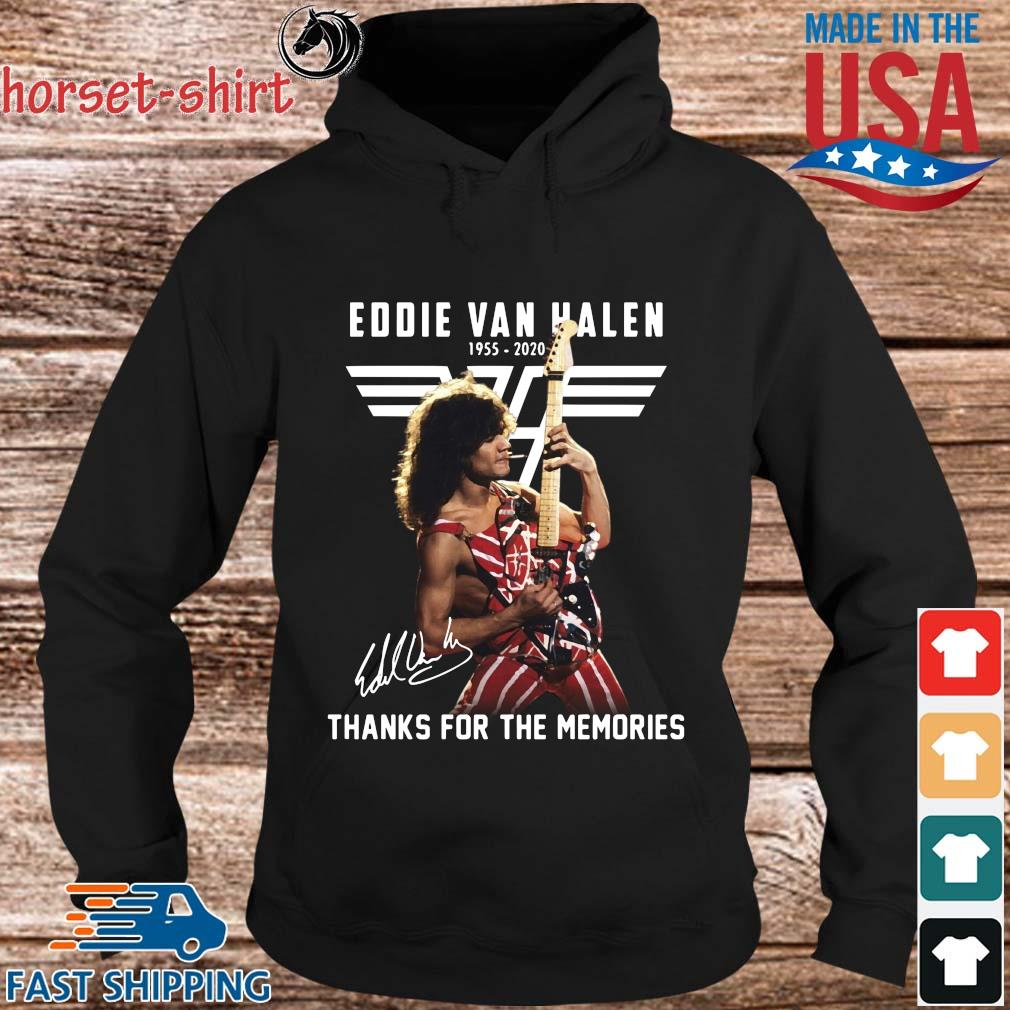 Eddie Van Halen 1955-2020 thanks for the memories signature s hoodie den