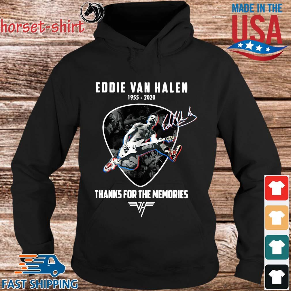 Eddie Van Halen 1955-2020 thanks for the memories signature s hoodie den