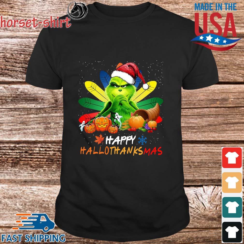 Grinch happy Hallothanksmas shirt