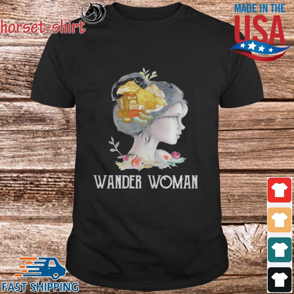 Hiking wander woman flowers shirt