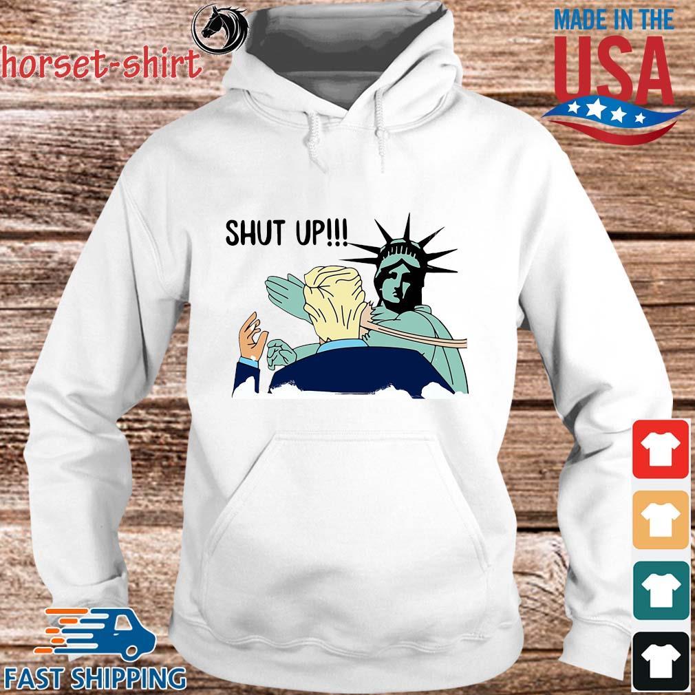 Liberty slap Donald Trump shut up s hoodie trang