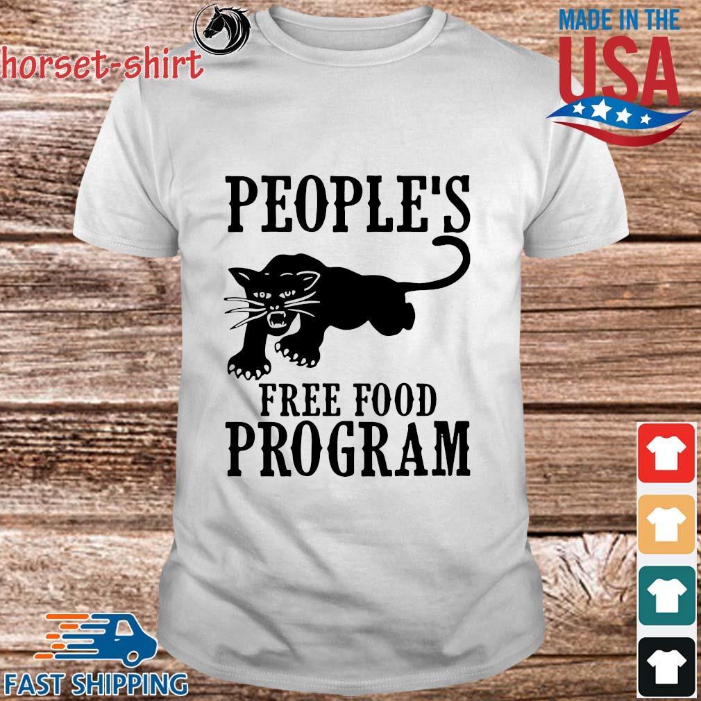 People's free food program black Panther shirt