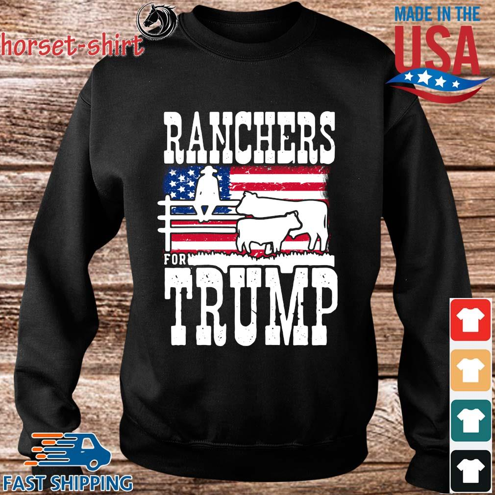 Ranchers For Trump American flag Shirt Sweater den