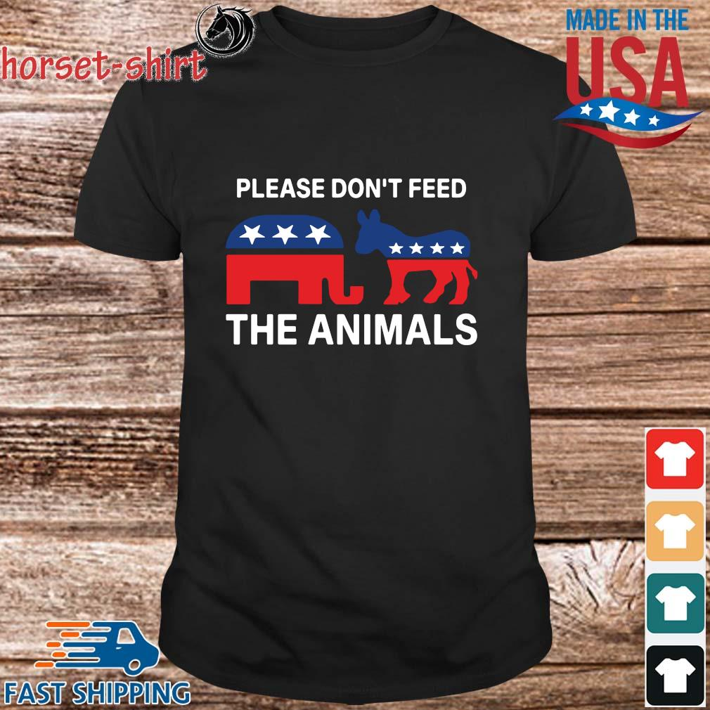 Republican and Democrat Please don_t feed the animals shirt