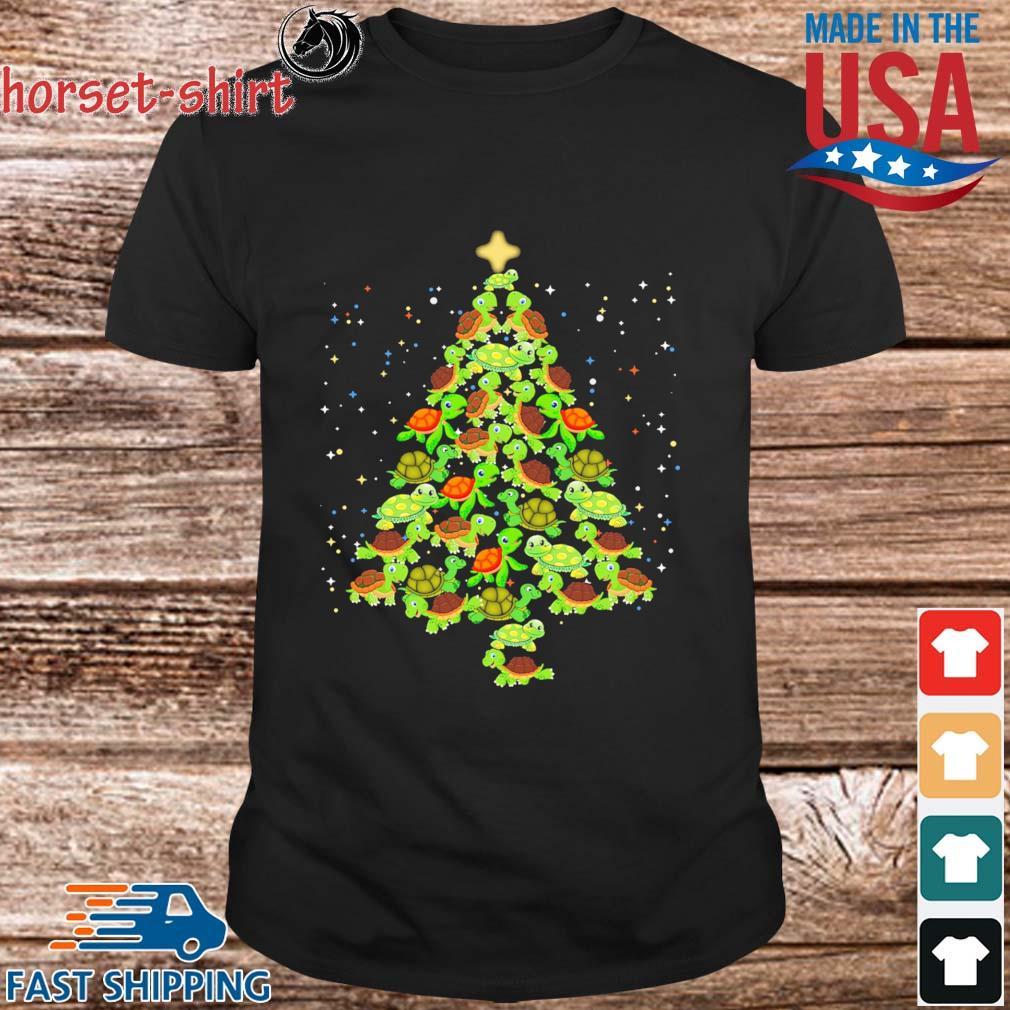 Turtles tree Christmas sweater