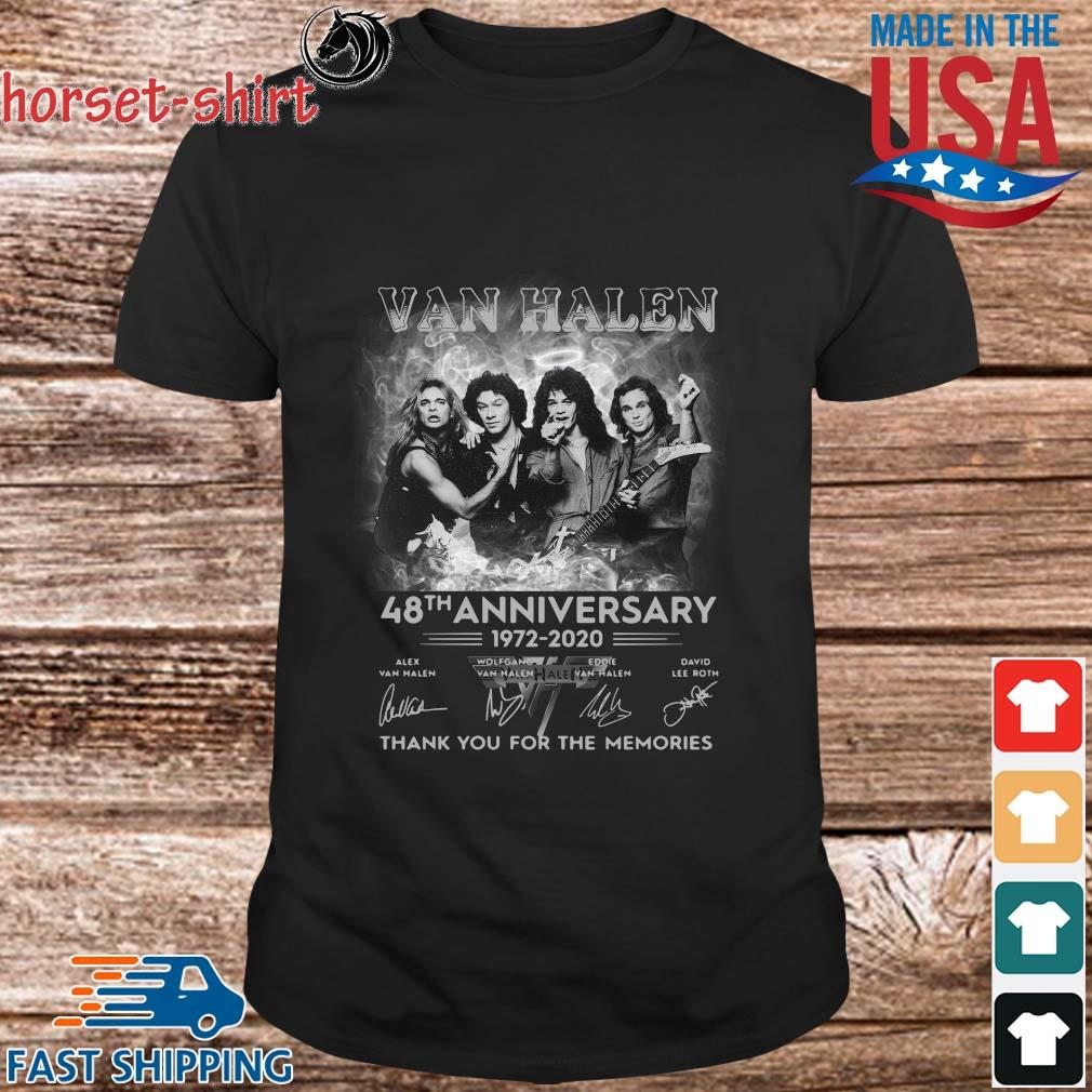 Van Halen 48th anniversary 1972-2020 thank you for the memories signatures shirt