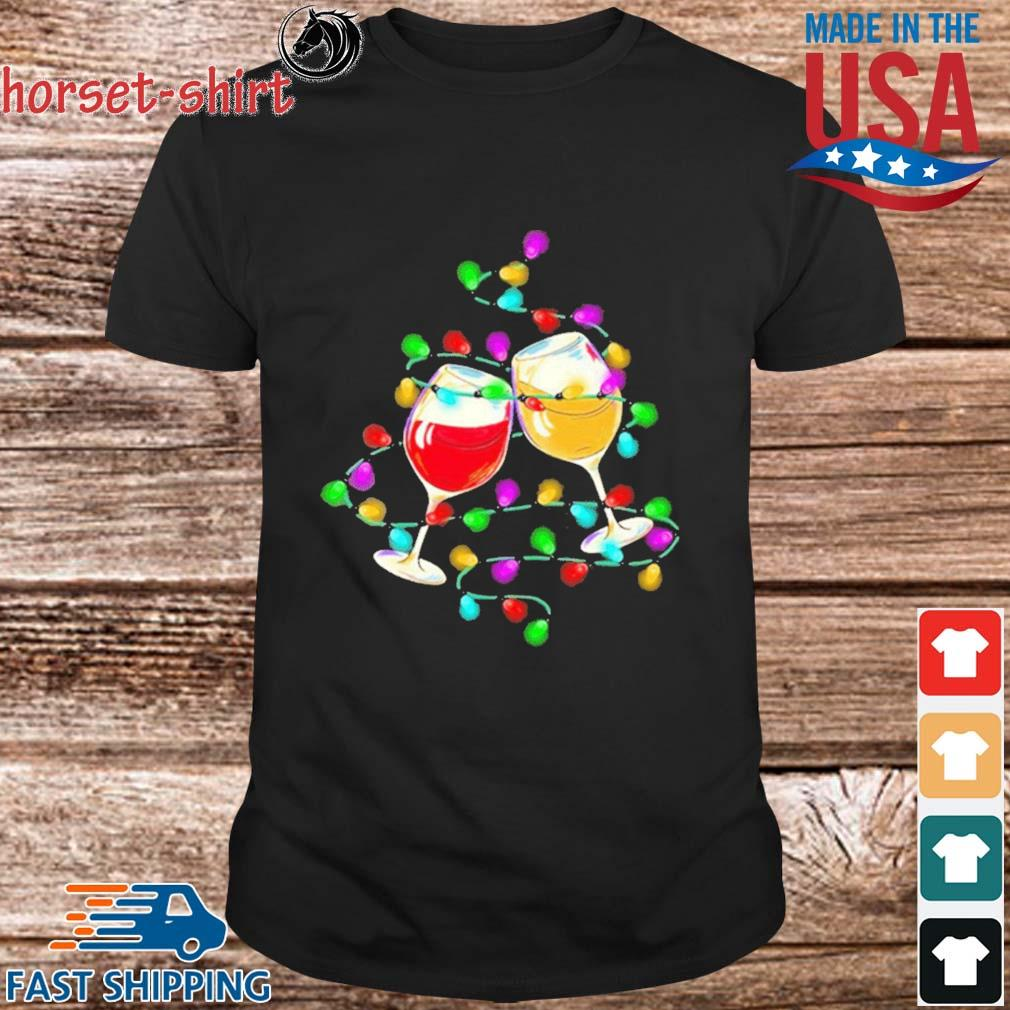 Wine light Merry Christmas sweater