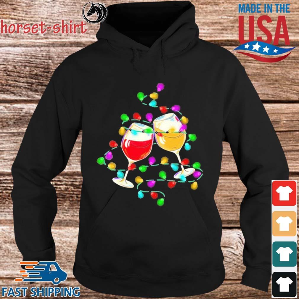 Wine light Merry Christmas sweater hoodie den