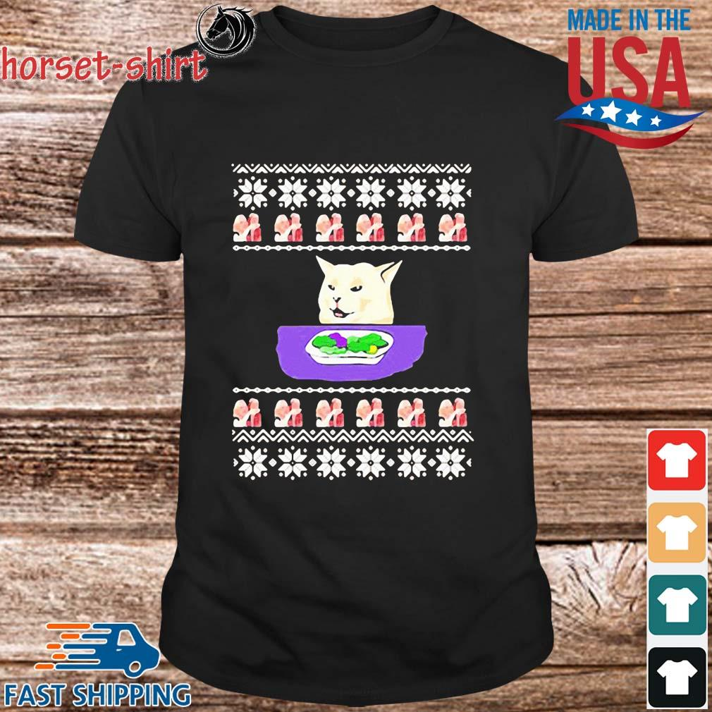 Woman yelling cat meme Christmas 2020 sweatshirt