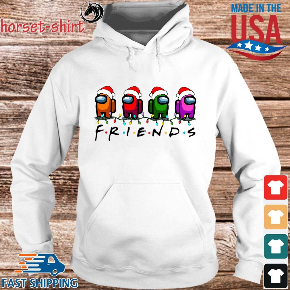 Among Us character Friends light Christmas sweater hoodie trang