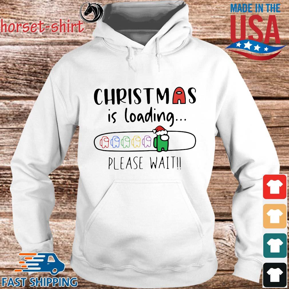 Among Us Christmas is loading please wait sweater hoodie trang
