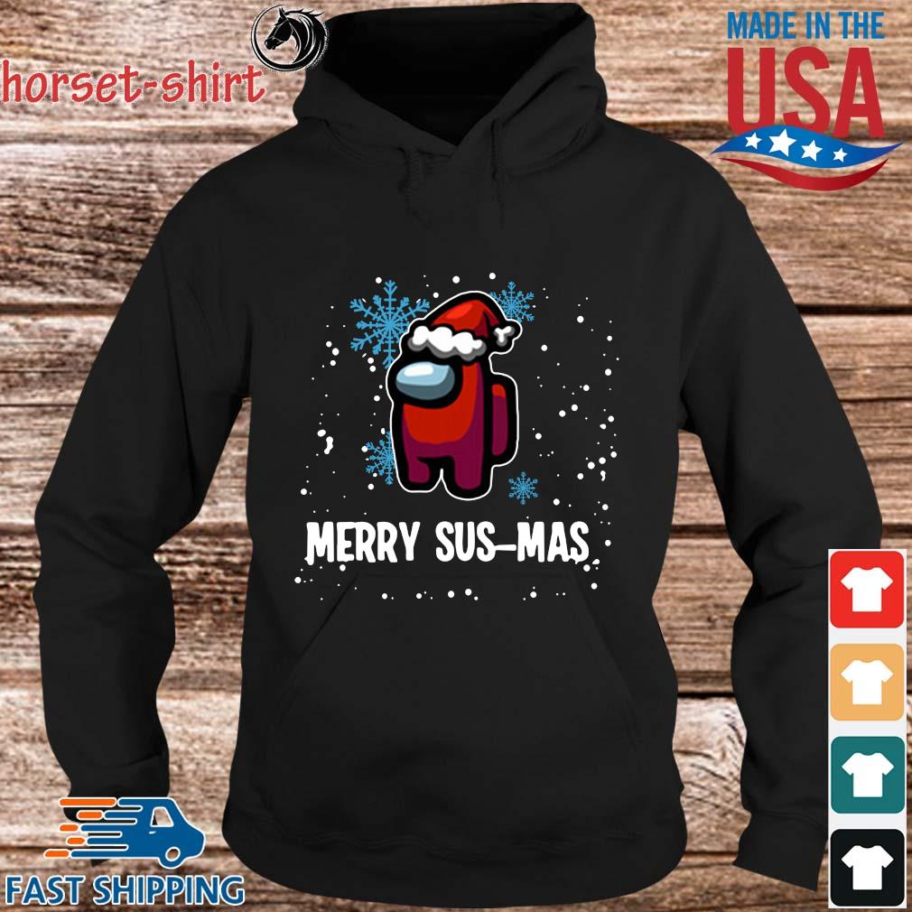Official Santa Among Us Merry Sus-mas Christmas sweater hoodie den