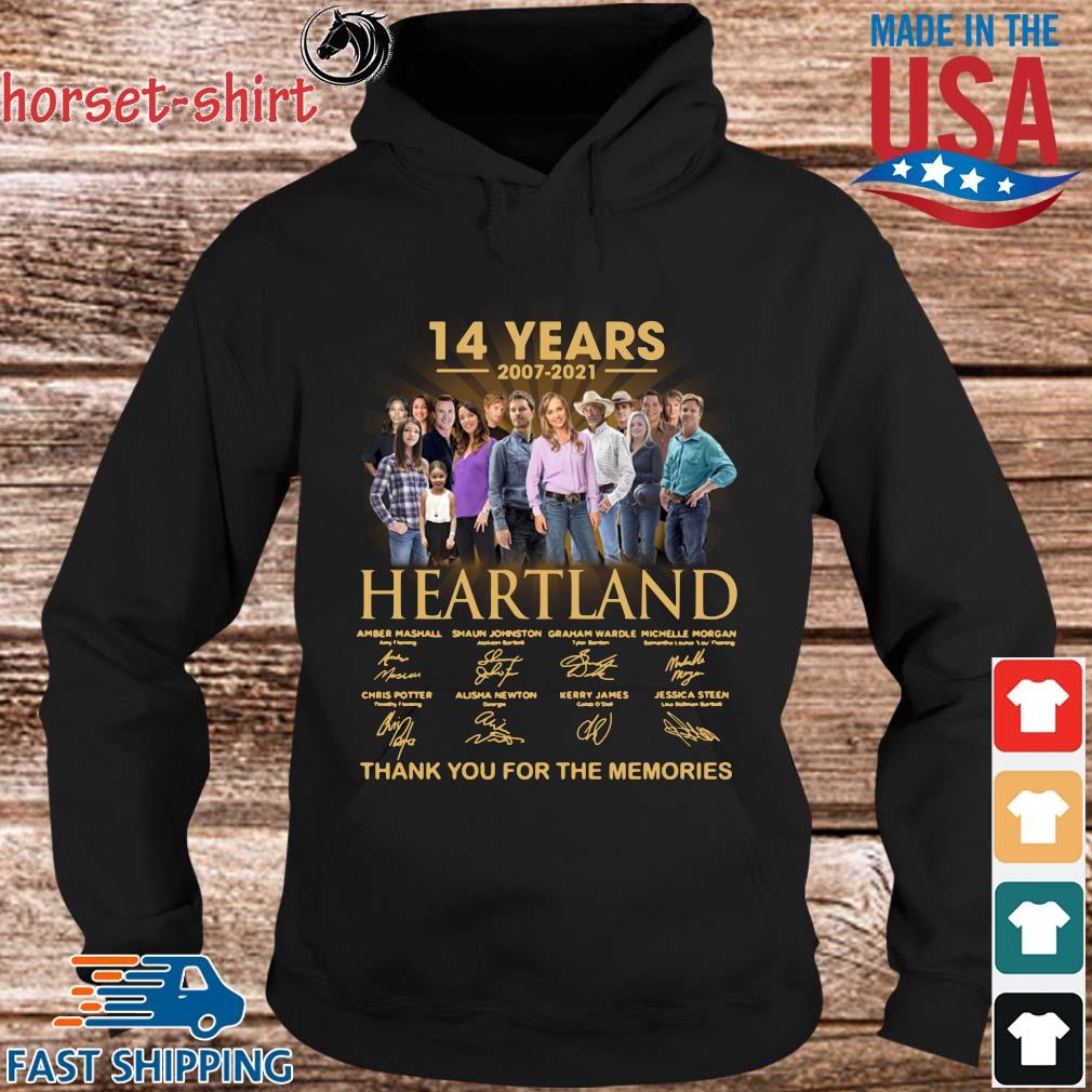 14 years of 2007-2021 Heartland thank you for the memories signatures s hoodie den