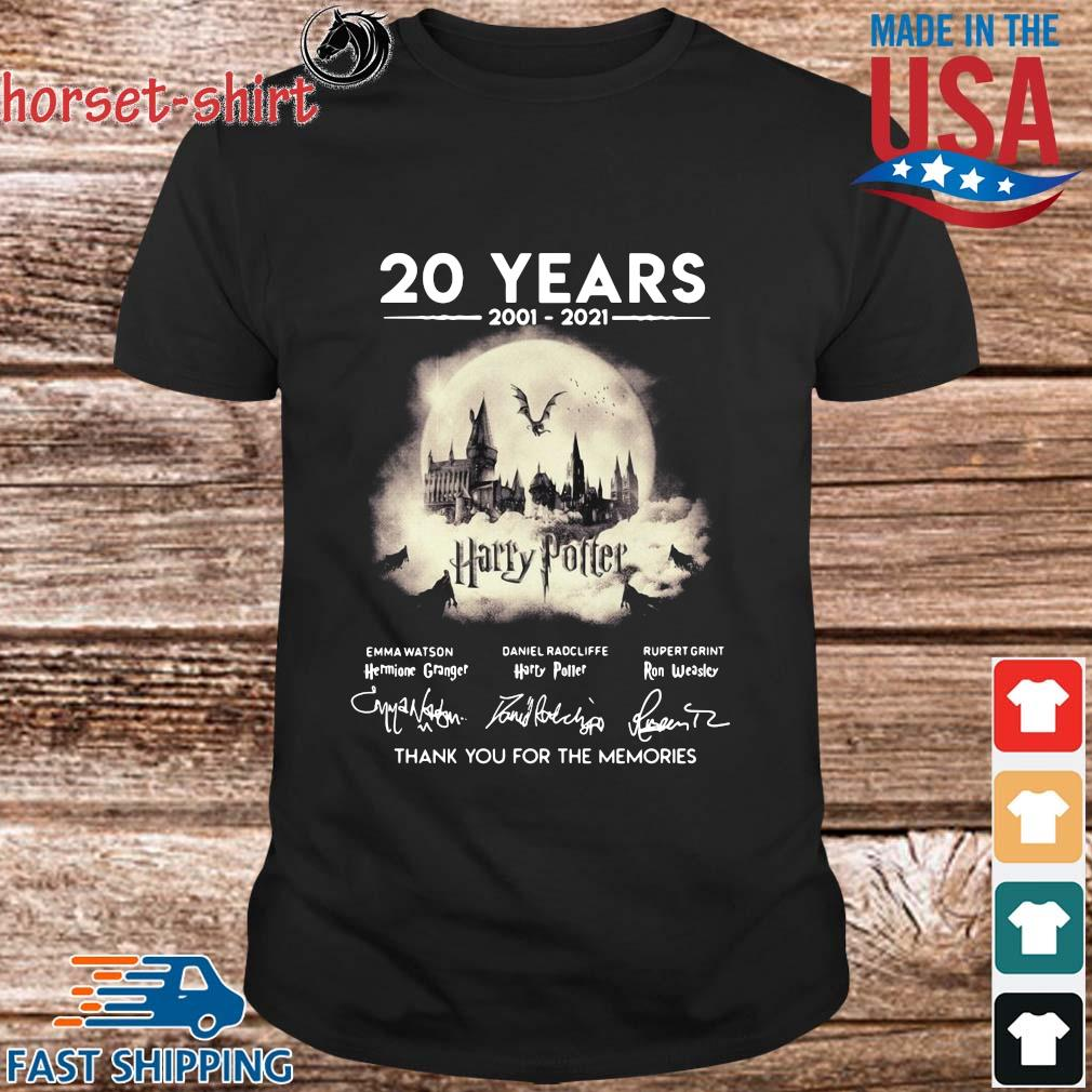 20 years 2002-2021 Harry Potter thank you for the memories signatures t-shirt