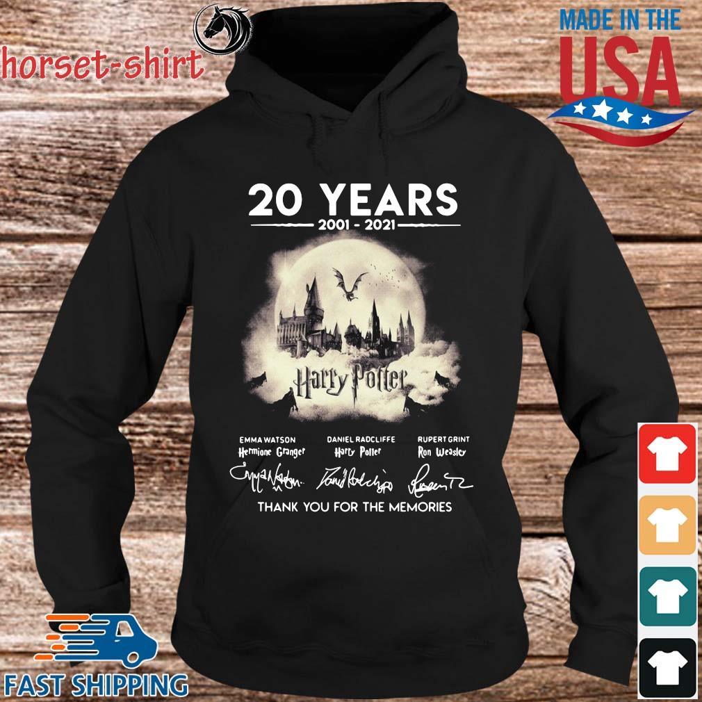 20 years 2002-2021 Harry Potter thank you for the memories signatures t-s hoodie den