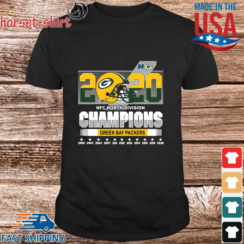 Green Bay Packers 2020 NFC north division Champions 2002-2020 shirt