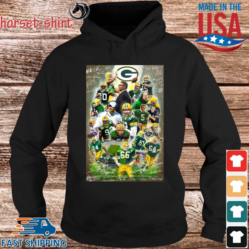 Green Bay Packers full player signatures s hoodie den