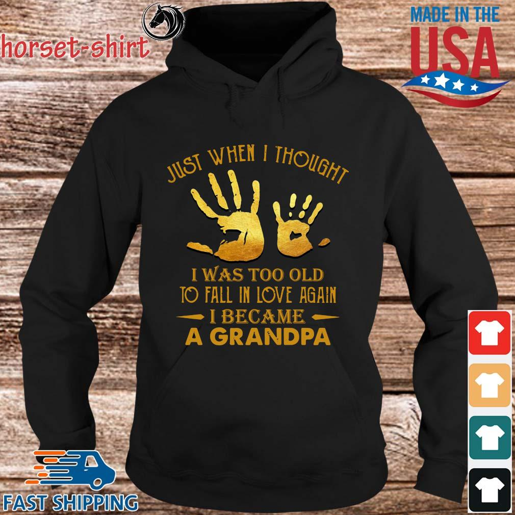 Just when I thought I was too old to fall in love again I became a grandpa s hoodie den