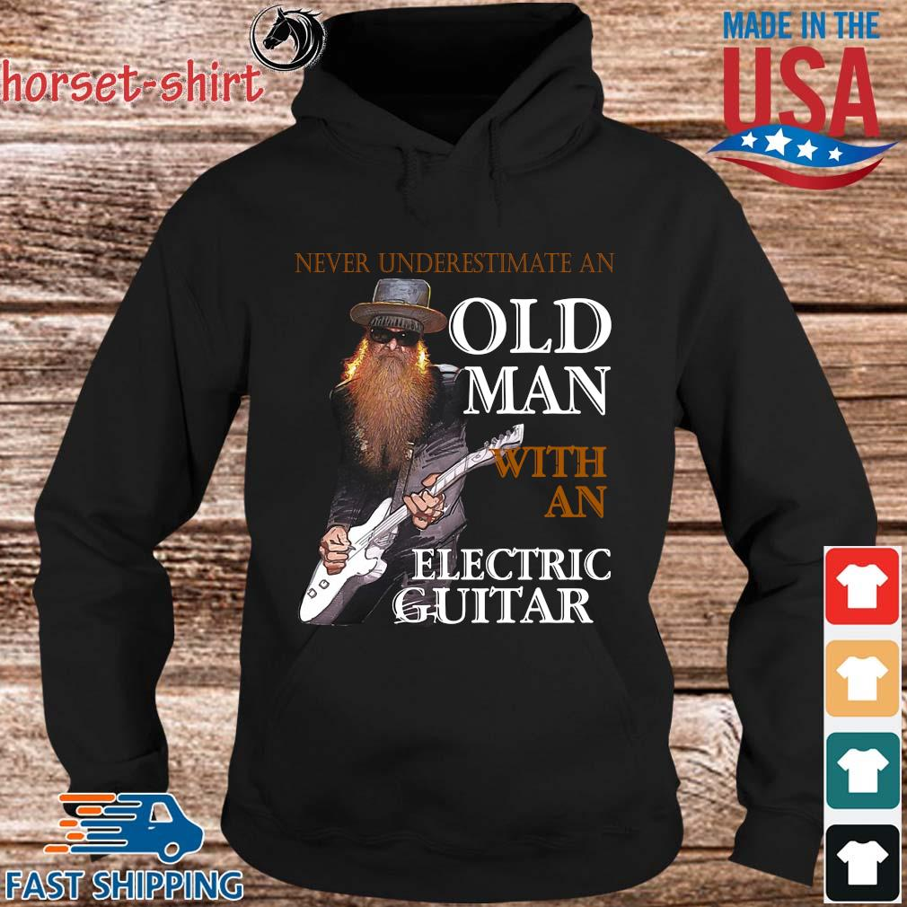 Never underestimate an old man with an electric guitar s hoodie den