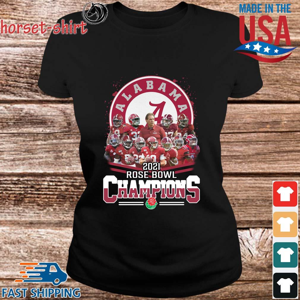 Official Alabama Crimson Tide 2021 Rose Bowl Champions shirts ladies den
