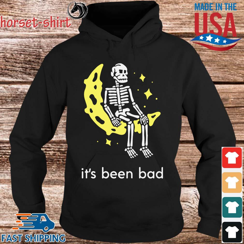 Skeleton sitting moon it's been bad s hoodie den