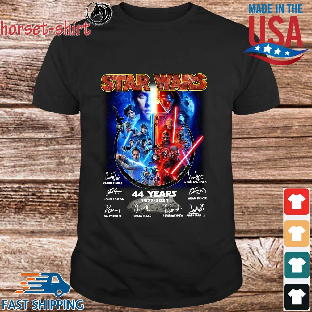 Star Wars 44 years 1977-2021 signatures shirt