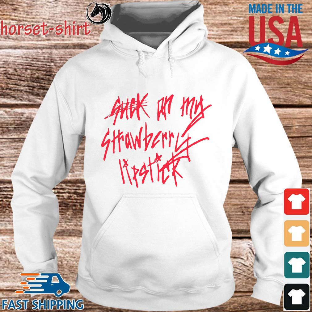 Suck on my strawberry stick s hoodie trang