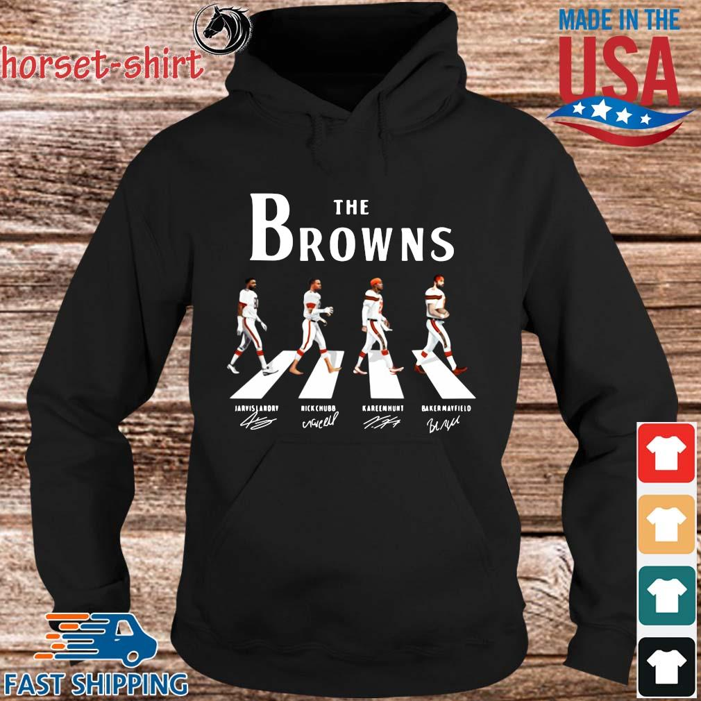 The Cleveland Browns abbey road signatures s hoodie den