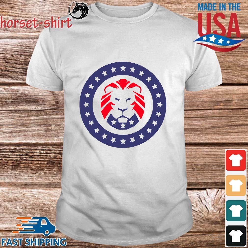 Trump 2020 MAGA Lion Flag American Shirt