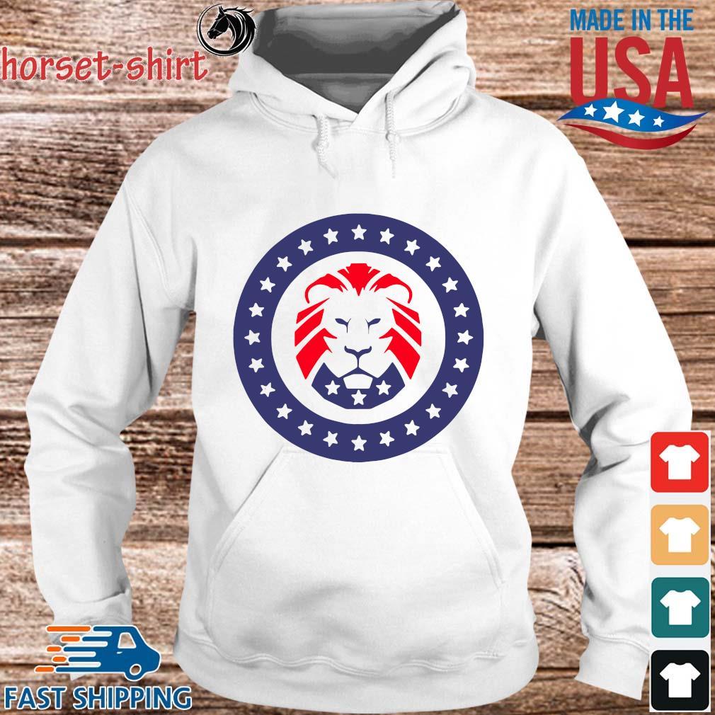 Trump 2020 MAGA Lion Flag American Shirt hoodie trang