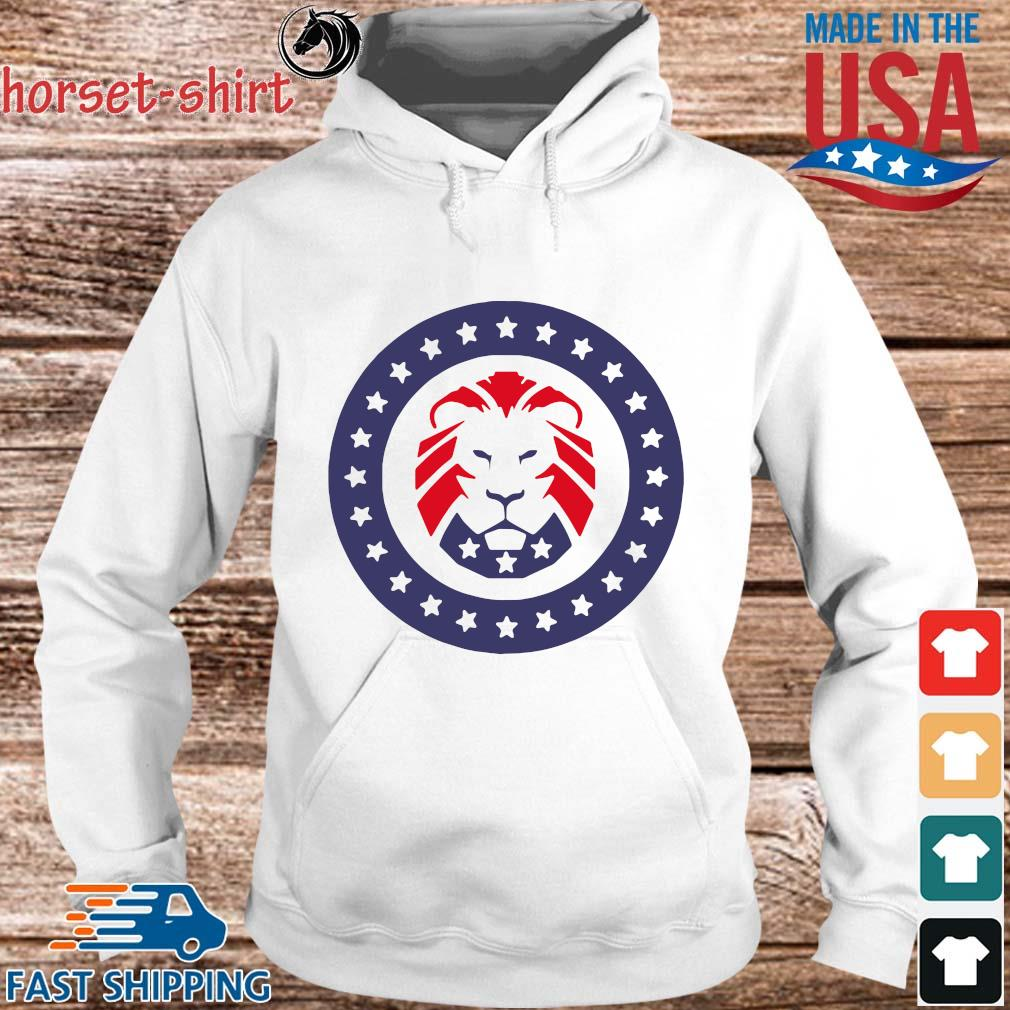 Trump 2020 MAGA Lion Flag American T-Shirt hoodie trang