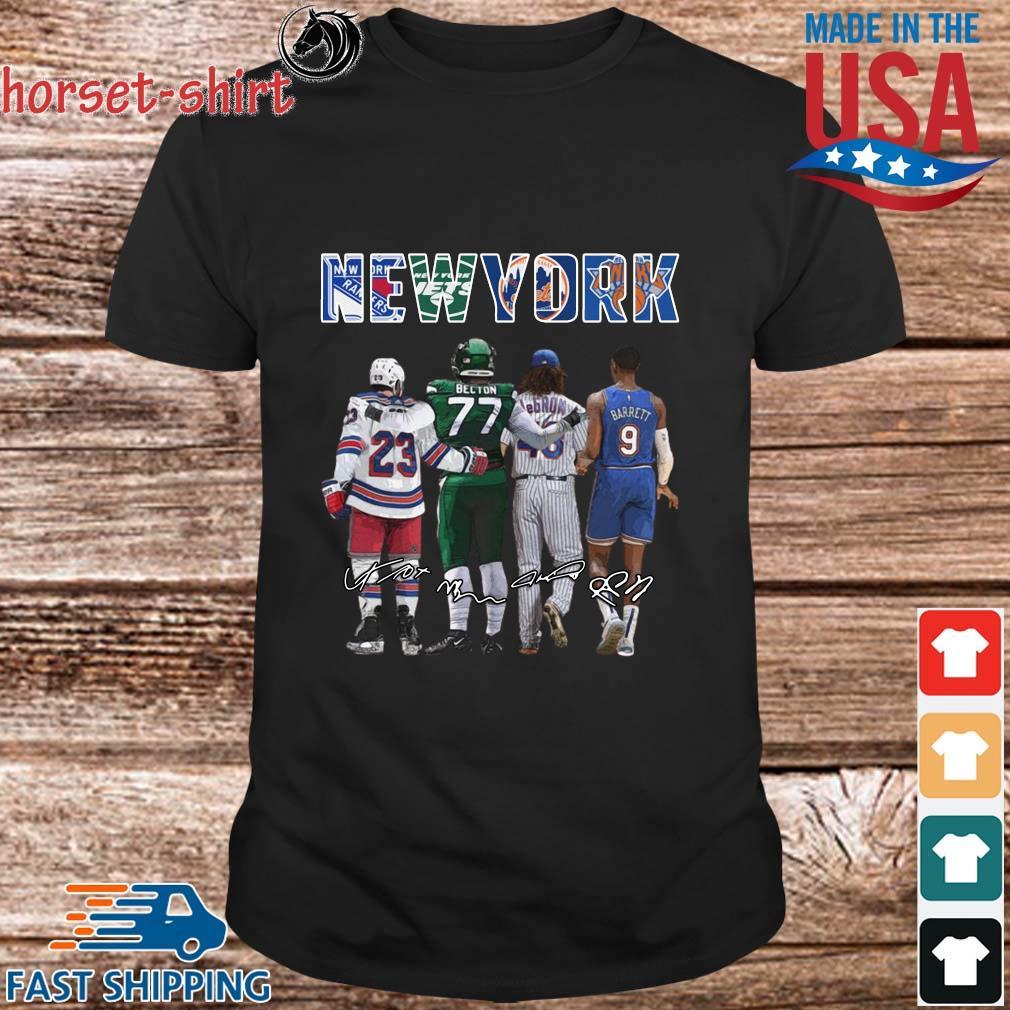 New York Sports Adam Fox Becton Lebron Barrett signatures shirt